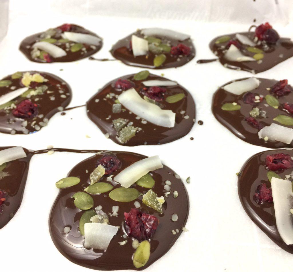 Festive Dark Chocolate Bites