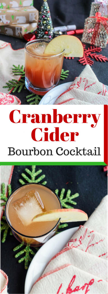 Cranberry Cider Bourbon Cocktail