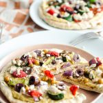 Greek Pizza with Spicy Yogurt Sauce