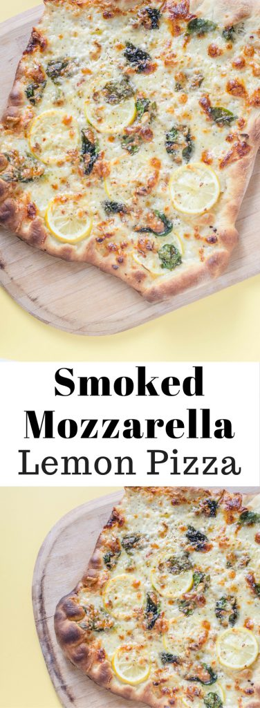 Smoked Mozzarella Lemon Pizza