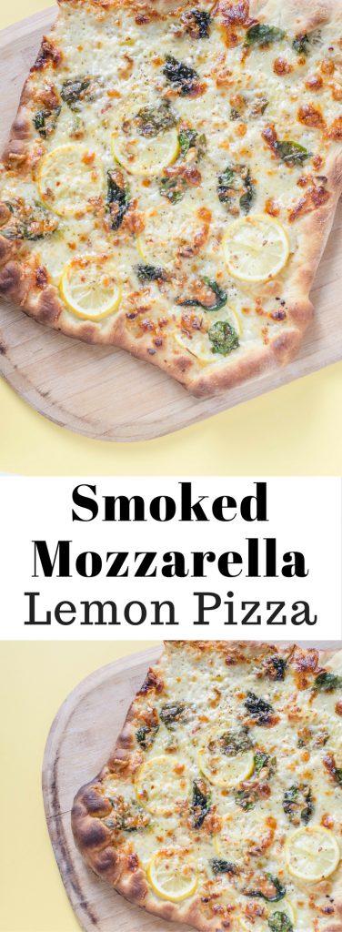 Smoked Mozzarella Lemon Pizza