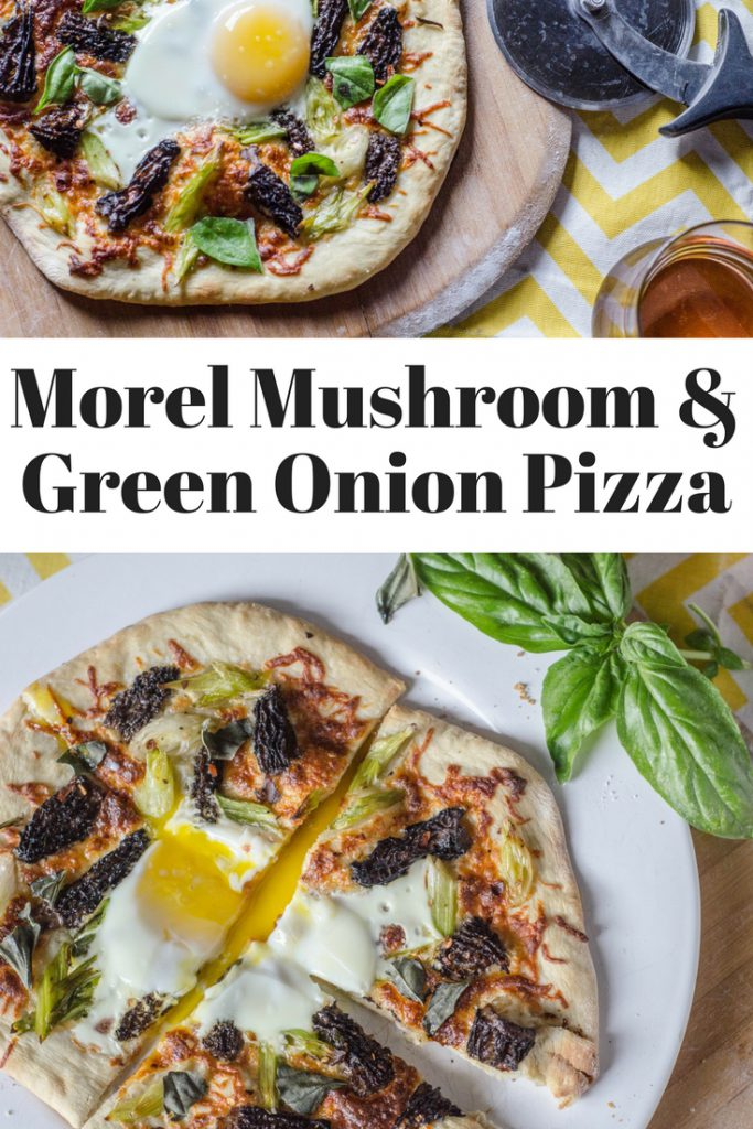 Morel Mushroom and Green Onion Pizza