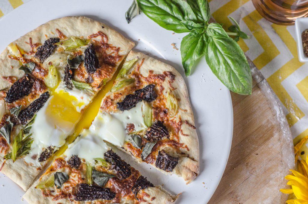 Morel Mushroom and Green Onion Pizza-9