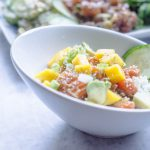 Ginger Salmon Poke with Mango and Avocado