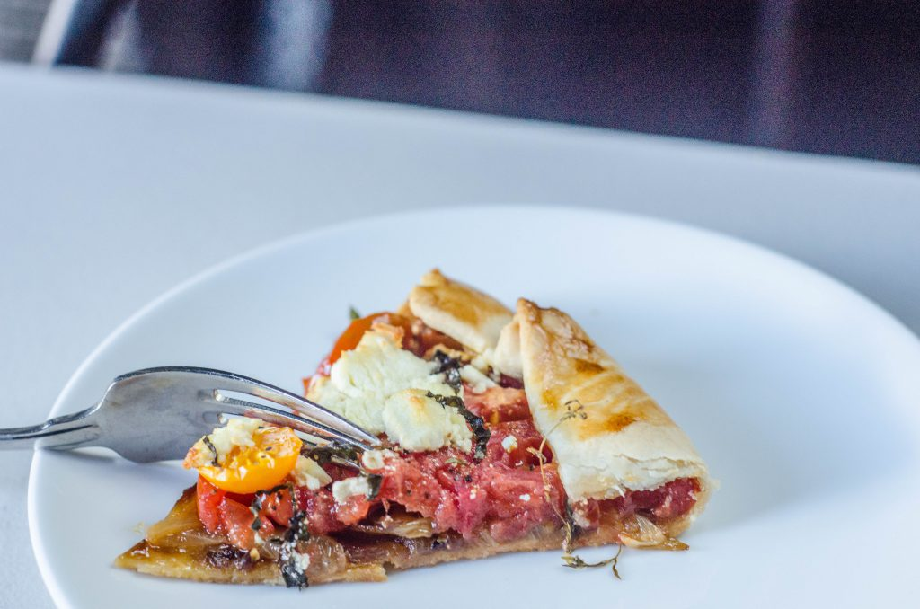 Tomato and Caramelized Onion Galette