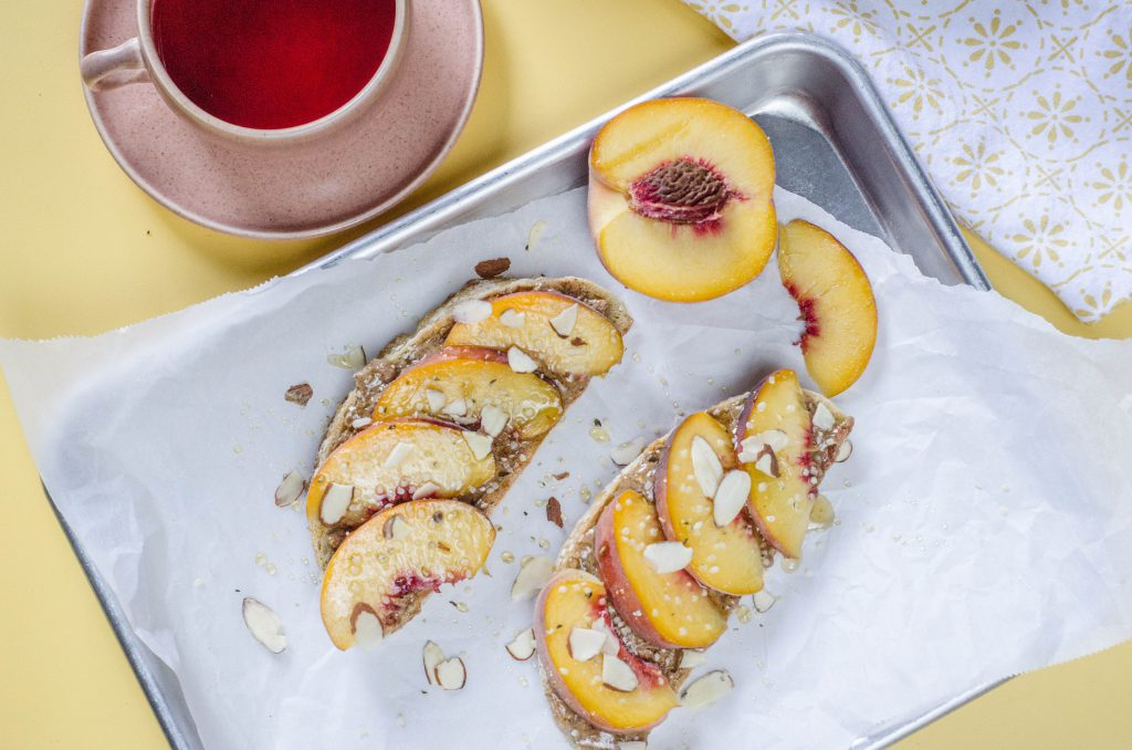 Almond Butter and Peach Toast