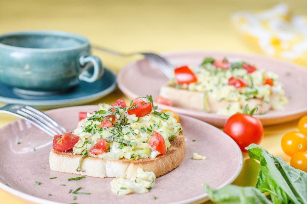 Zucchini Scramble Toast