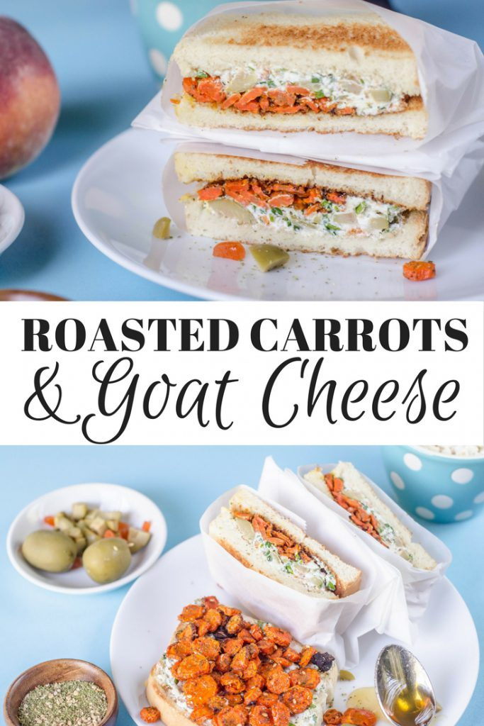 roasted carrot and goat cheese
