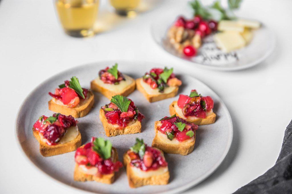 Cheddar Cranberry Chutney Crostini 9