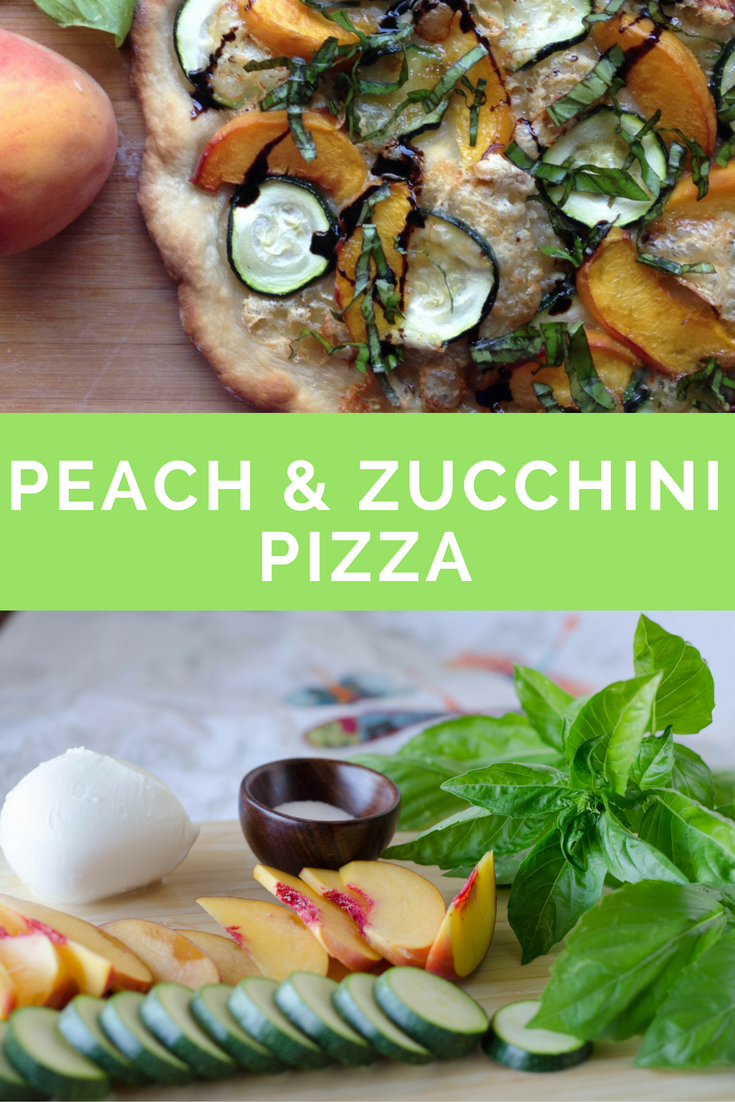 peach and zucchini pizza