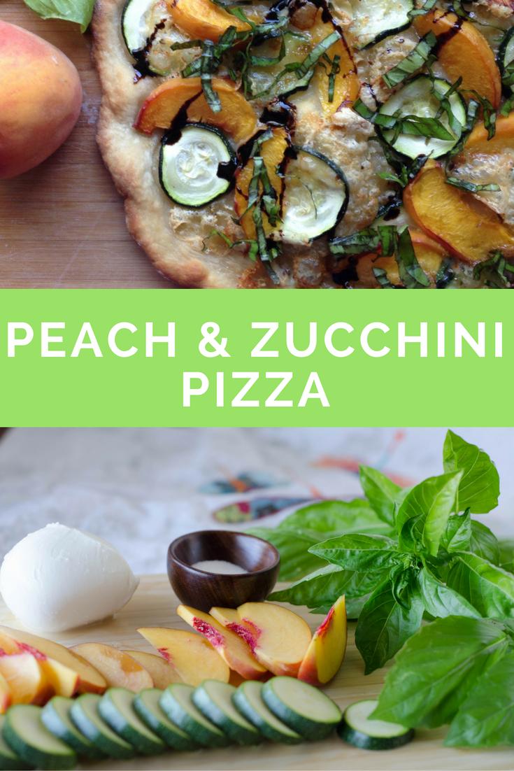 peach and zucchini pizza