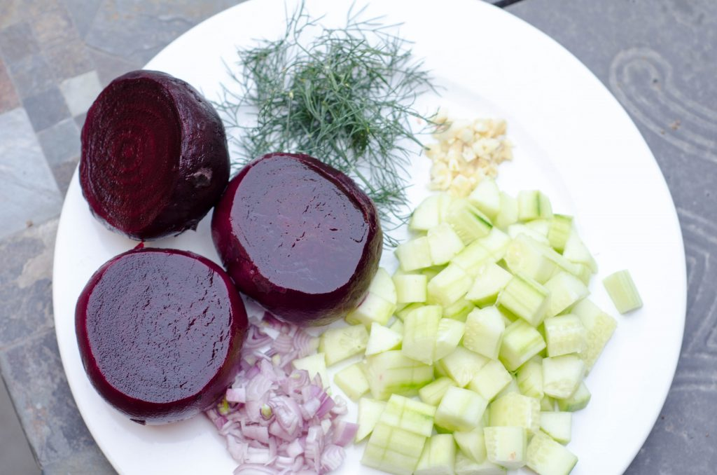 beet gazpacho ingredients