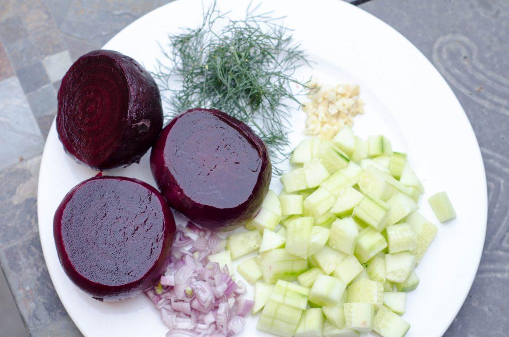 beet gazpacho ingredients