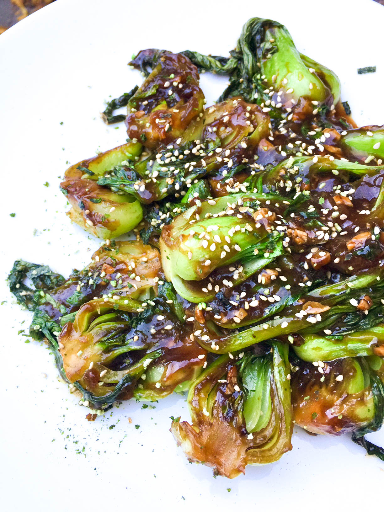 Garlic Ginger Baby Bok Choy | Asian | Vegetarian | Easy | Healthy