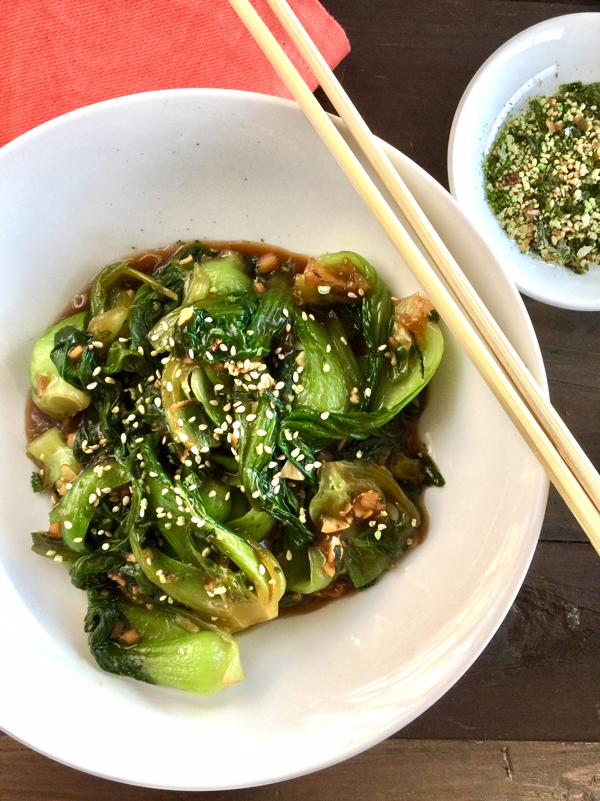 Garlic Ginger Baby Bok Choy | Veggie | Asian | Vegetarian