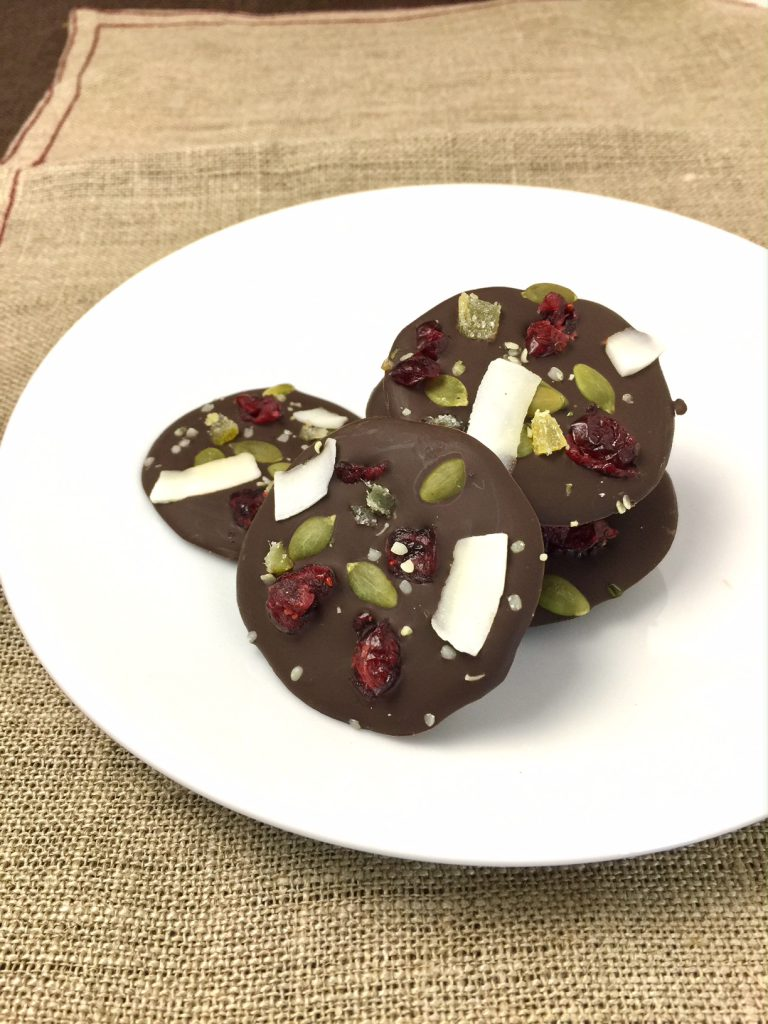 Festive Dark Chocolate Bites