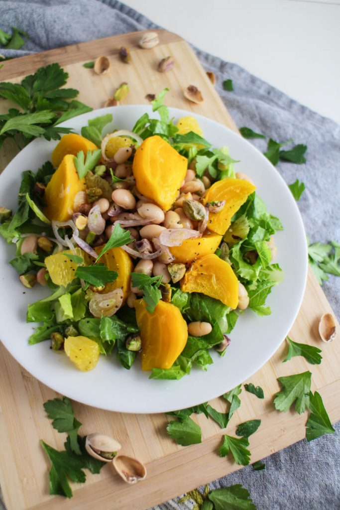 Golden Beet, White Bean, and Orange Salad