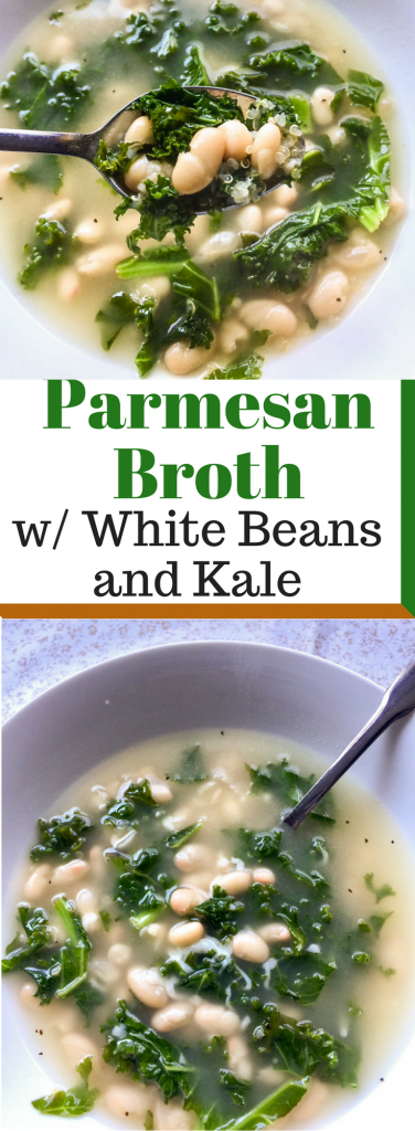 Parmesan Broth with White Beans and Kale Pin