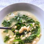 Parmesan Broth with White Beans and Kale