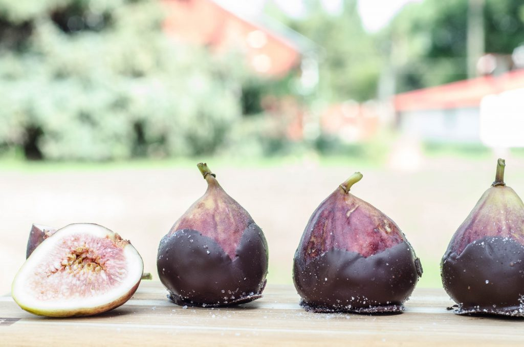 Dark Chocolate Dipped Figs with Sea Salt