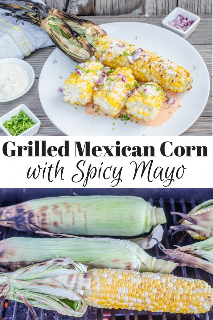 Grilled Mexican Corn with Spicy Mayo