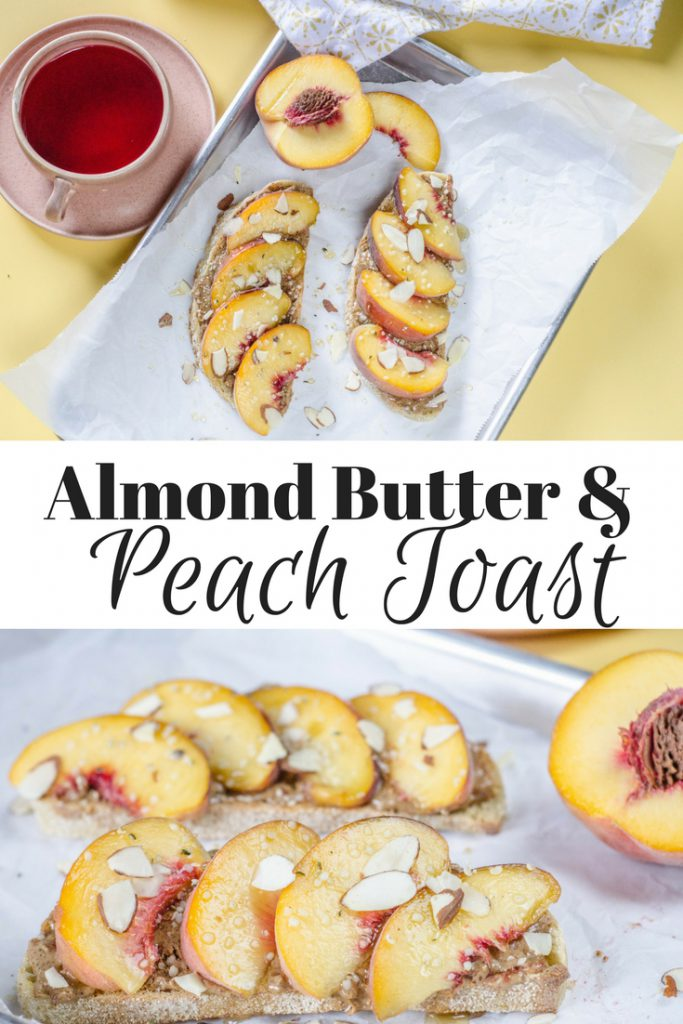 Almond Butter and Peach Toast pin