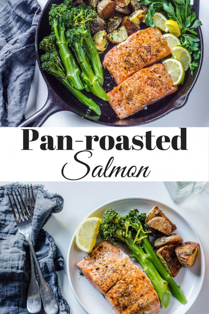 Pan-seared salmon pin