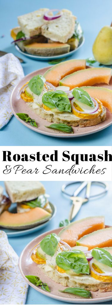 Roasted Squash with Pear Sandwich