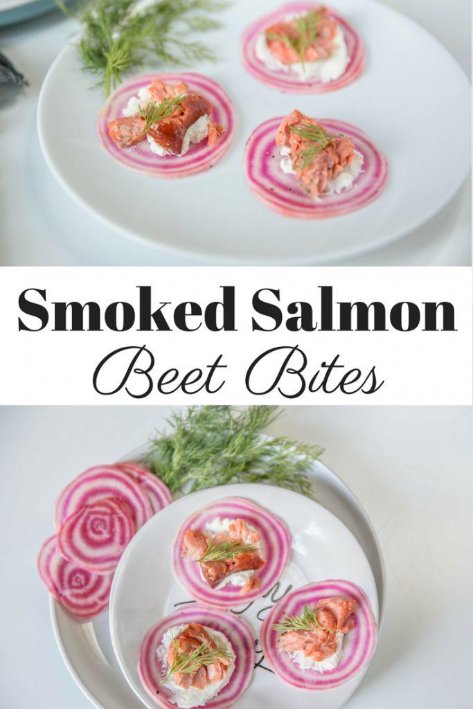 Smoked Salmon Beet Bites Pin