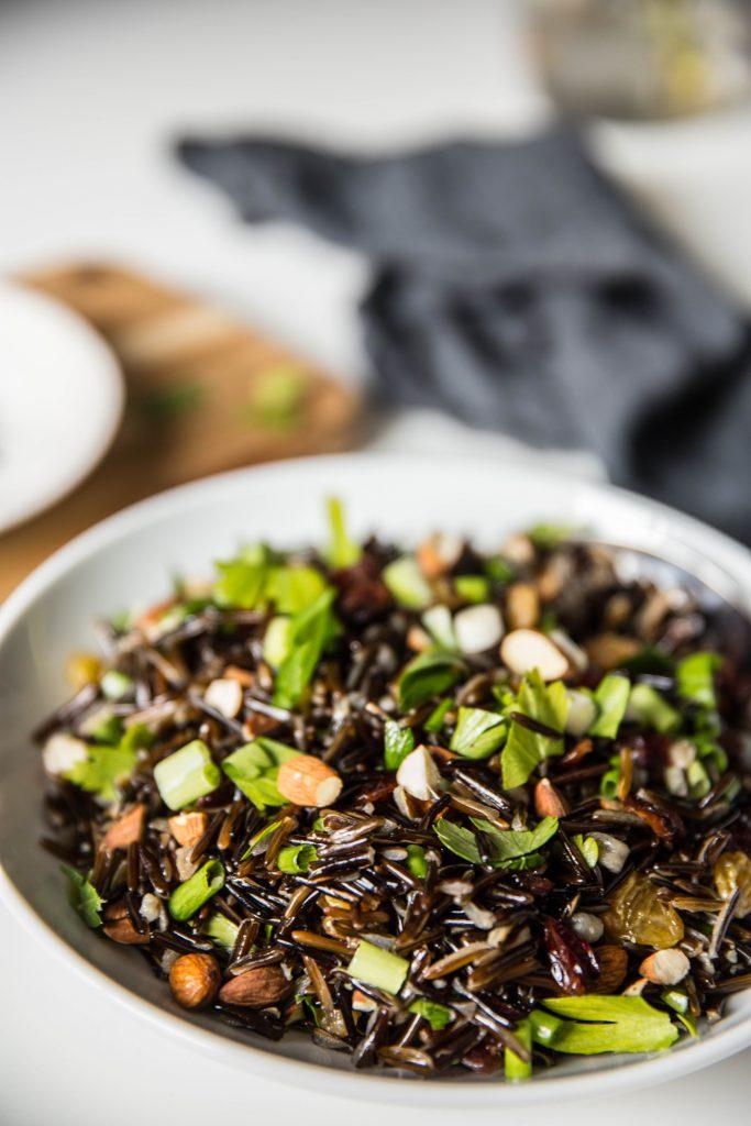 Wild Rice Salad Vertical Shot