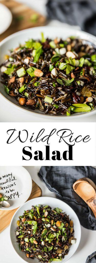Wild Rice Salad Long Image for Pinterest