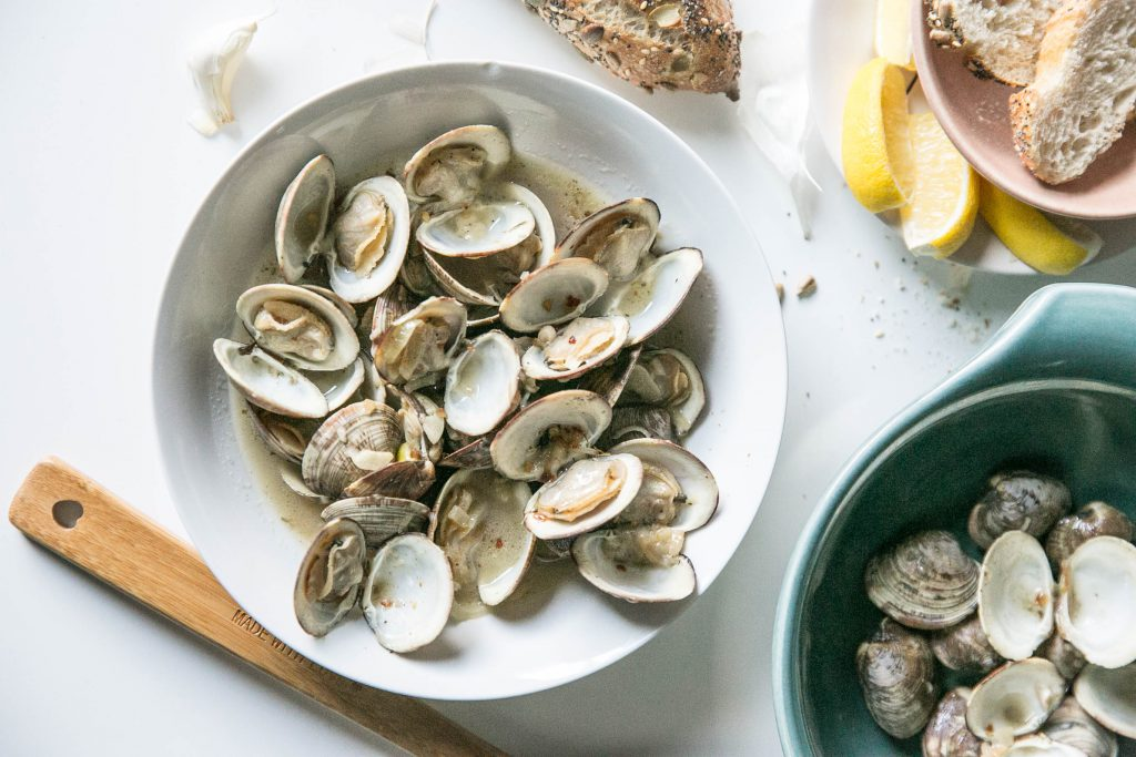 Parmesean Garlic Clams-18