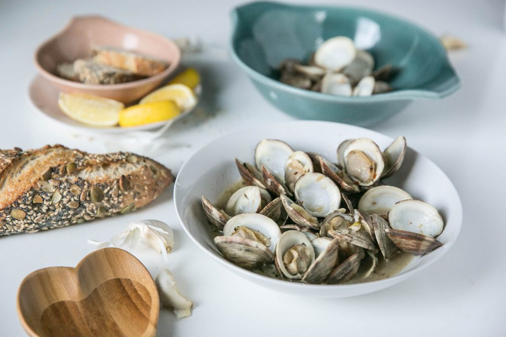 Parmesean Garlic Clams-33