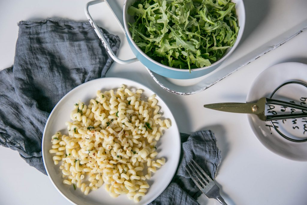 Pasta with Garlic and Olive Oil-7