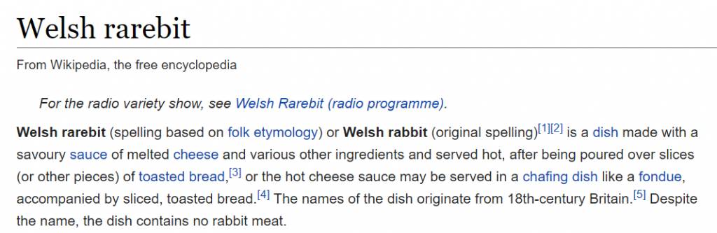 Welsh rarebit - Wikipedia