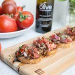 Tomato Bruschetta with Aged Balsamic Drizzle
